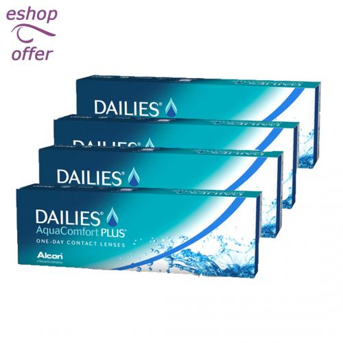 Dailies AquaComfort Plus 30pck - 4 κουτιά (120 φακοί) NM13 |