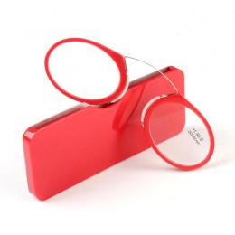 Nose Clip Reading Glasses Red