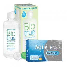 AquaLens Refresh (ζεύγος) & Bio True 360ml + 60ml Δώρο