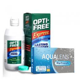 AquaLens Refresh (ζεύγος) & Opti-Free Express 355ml